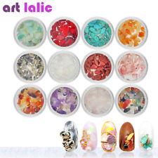 12 Colors/set Natural Stone Quartz Turquoise for Acrylic Nail Art DIY Decoration