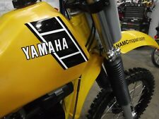 1983 YAMAHA YZ490 tank decals NEW  (build of 2 layers) 1 pair, DIY Install kit