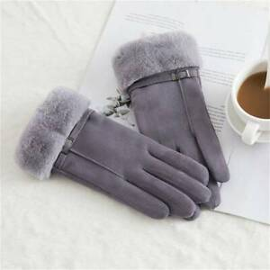 Furry Gloves Warm Suede Gloves Outdoor Cute Elegant Female Driving For Women FW