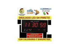 OROLOGIO DIGITALE DA PARETE MURO A LED DATARIO TEMPERATURA ULTRAPIATTO