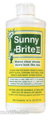Sunny Brite II Water Stain Remover New Removes Hard Water Spots Glass Chrome