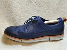 Clarks Trigenic mens Comfort shoes Leather Navy/Brown/White UK 10 EUR 44.5