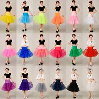 """26"""" Women's Retro Underskirt 50s Swing Petticoat Wedding Tutu Skirt Fancy Dress"""
