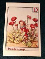 CICELY MARY BARKER FLOWER FAIRIES POSTCARD, THE DOUBLE DAISY FAIRY, ALPHABET