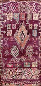 Antique Vegetable Dye Handmade Authentic Moroccan Berber Oriental Area Rug 7x13