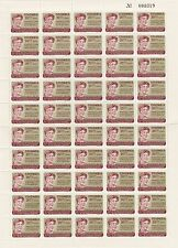 a122 - COLOMBIA - SG1148 MNH 1964 HUMAN RIGHTS - SHEETLET 50 STAMPS