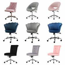 Swivel Office Chair Velvet Upholstered Home Computer Task Desk Chair Padded Seat