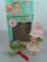 Vintage Strawberry Shortcake Lime Chiffon doll with Parfait parrot in box
