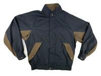 FootJoy DryJoys Men's Large Black Houndstooth Vented Waterproof Full Zip Jacket