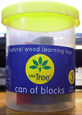 LITTLE TREE NATURAL WOOD LEARNING TOYS CAN OF BLOCKS