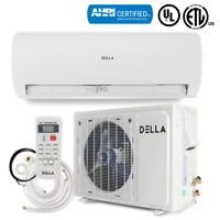 Ductless 12000 BTU 230V Mini Split Air Conditioning Unit with Heat Pump System