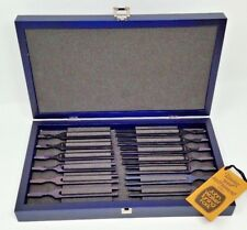 John Walker Chromatic Blued Tuning Fork Set of 13 Professional Piano Quality