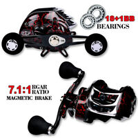 7.1:1 Baitcasting Reel Saltwater Fishing Reel 18+1BB Right Left Handed