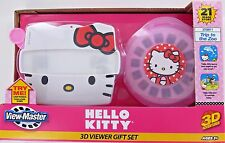 HELLO KITTY View-Master 3D Viewer SET 3 Reels Case Sanrio View Master NEW NIB
