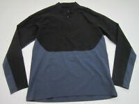 Mens Large Nike Nikelab Essentials Half Zip softshell black blue pullover 866060