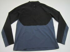 Mens Large Nike Nikelab Essentials Half Zip softshell black blue pullover 866060