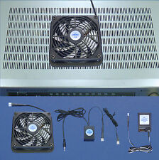 AV Receiver 12 volt-trigger-controlled cooling fan system with multispeed