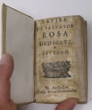 """Libro Antico """"SATIRE di SLVATOR ROSA dedicate a SETTANO"""" fine 1600"""