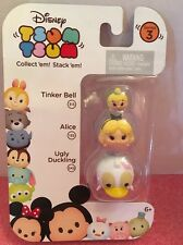 NEW ~Disney TSUM TSUM- Series 3-Tinker Bell, Alice & UglyDuckling-Ready To Ship