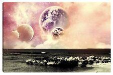 Quadro moderno Luna sole Marte Universo Lago pianeta Sistema Solare 60x100 terra
