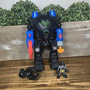 Imaginext Batman Mech Robot Suit DC Heroes Complete Batman Superman Robo Batcave