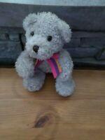 OURS PELUCHE DOUDOU BEAR, 15 cm, GRIS, VF TOYS d occasion