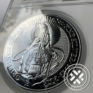 2018 10 OZ SILVER COIN NGC MS 69 GREAT BRITAIN QUEEN'S BEASTS - THE GRIFFIN