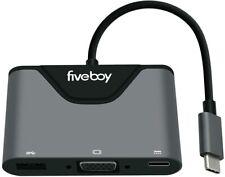 Fiveboy USB-C to VGA Multiport Adapter