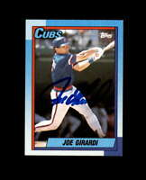 Joe Girardi Hand Signed 1990 Topps Chicago Cubs Autograph