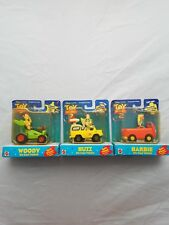 Disney Toy Story 2 Woody/Buzz/Barbie Diecast Vehicle Buggy Spin Wheel Lot of 3
