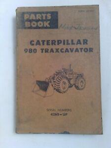 Caterpillar 980 Traxcavator parts manual. Genuine Cat book.