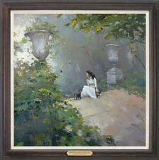 """Hand-painted Original Oil painting art knife Landscapes girl On Canvas 24""""x24"""""""