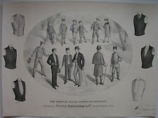 1892 FRENCH AMERICAN MEN'S FASHION CHILDREN moda maschile Raffignone Torino