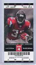 Atlanta Falcons Houston Texans Full Unused NFL Football Game Ticket 9/30/07