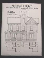 Dollhouse Plans Design 7 Architect's Choice 1:12 Scale Victorian Queen Anne