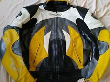 AGV SPORT JACKET RACING LEATHER 54 MEN MOTORCYCLE BOMBER ITALY PROTECTIVE