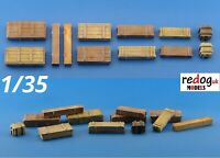 Redog 1/35 Allied and Germans Ammunition Crates Scale Model Military Stowage B5
