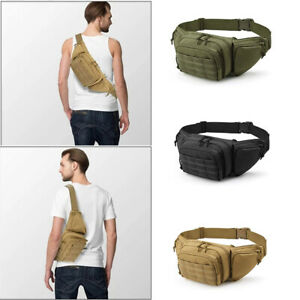 Concealed Carry Fanny Pack Holster Tactical Pistol Waist Pouch Gun Bag Holster