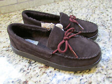 NEW SKECHERS COZY HIGH CAMP FIRE MOCCASINS SHOES BROWN WOMENS 8 FREE SHIP