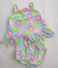 Nwt Kate Mack Daisy Print with Petal Hem 2pc Swimsuit 18M