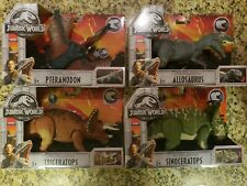 Jurassic World Roarivores Allosaurus Sinoceratops Pteranodon Triceratops Lot/Set
