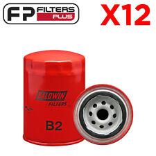 12 x B2 BALDWIN OIL FILTER - Z9, WZ9, LF3530, LF3313, P550008, ACO1, AFL1, ROF1