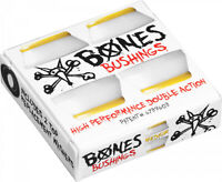 Bones Skateboard Truck Bushings Hardcore Medium 91A White - For 2 Trucks