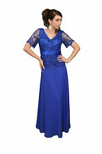 TheDressOutlet Long Elegant Mother of the Bride Dress Royal Blue