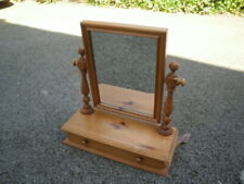 PINE SWIVEL DRESSING TABLE MIRROR WITH DRAWER.ETC
