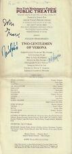 "Galt MacDermot (Signed) ""TWO GENTLEMEN OF VERONA"" Raul Julia / John Guare 1971"