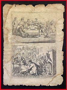 stampe inglesi antiche incisioni straniere disegni satira umorismo Inghilterra