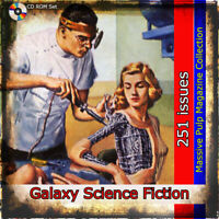 Galaxy Science Fiction collection,  251 issue set, Action, fantasy pulp magazine