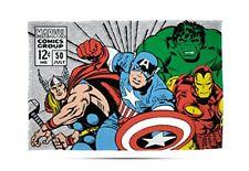 Marvel Comics Rétro Couverture Polaire Enfants Thor Hulk Iron Man