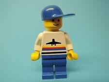 Lego Figur Cassic Airport Shirt mit Flugzeug air005 aus Set 6396 6399